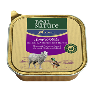 Real Nature tálka adult bárány&csirke 100g