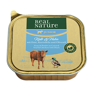 Real Nature tálka junior borjú&csirke 100g