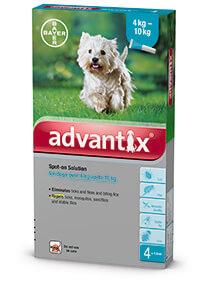 Advantix Spot on 4-10 kg közötti kutyáknak A.U.V. 4 x 1,0 ml