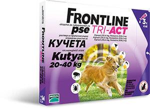 Frontline Tri-Act rácsepegtető oldat 20-40 kg-os kutyáknak 3×4, 0 ml