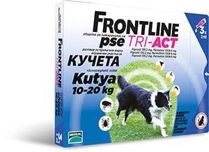 Frontline Tri-Act rácsepegtető oldat 10-20 kg-os kutyáknak 3×2, 0 ml