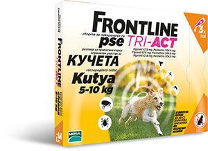 Frontline Tri-Act rácsepegtető oldat 5-10 kg-os kutyáknak 3×1,0 ml