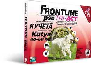Frontline Tri-Act rácsepegtető oldat 40-60 kg-os kutyáknak 3x 6, 0 ml