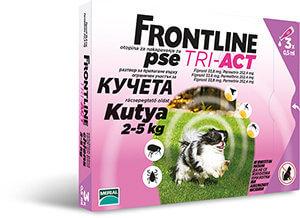 Frontline Tri-Act rácsepegtető oldat 2-5 kg-os kutyáknak 3×0,5 ml
