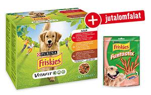 AJÁNDÉK JUTALOMFALAT – Friskies 12x100g kutyaeledel