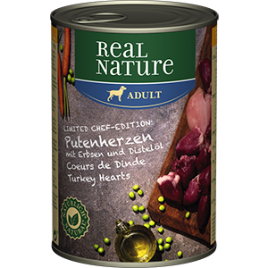 Real Nature konzerv adult pulykaszív 400g