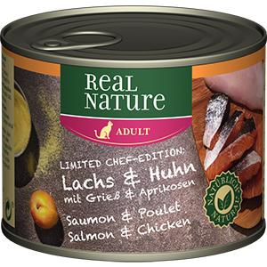 Real Nature konzerv adult lazac&csirke 200g
