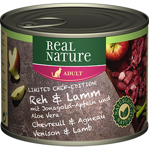 Real Nature konzerv adult őz&bárány 200g