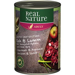 Real Nature konzerv adult őz&bárány 400g
