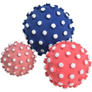 33% kedvezmény - AniOne latex labda, kék, rózsaszín, piros  6cm
