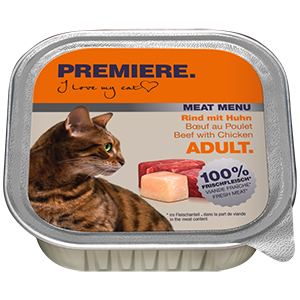 Premiere Meat Menu tálka adult marha&csirke 100g