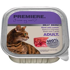 Premiere Meat Menu tálka adult marha&bárány 100g
