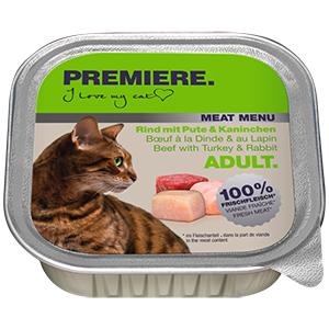 Premiere Meat Menu tálka adult pulyka&nyúl 100g