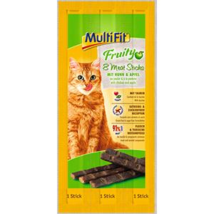MultiFit Fruit Meatstick csirke&alma 8x5g