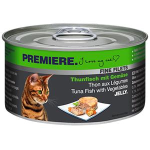 PREMIERE FINE FILETS konzerv adult tonhal&zöldség 100g