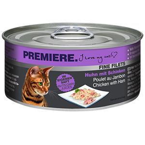 PREMIERE FINE FILETS konzerv adult csirke&sonka 80g