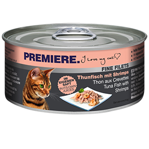 PREMIERE FINE FILETS konzerv adult tonhal&rák 80g