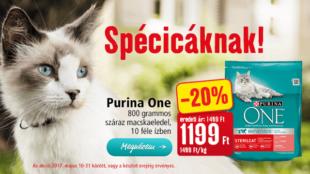 Purina ONE: akciós ár spécicáknak!