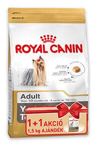 1+1 AKCIÓ – RoyalCanin BHN Yorkie fajtatáp (Adult/Junior) 1,5kg+1,5kg