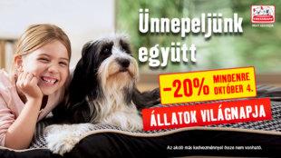 Állati egy Világnap:  20% kedvezmény a Fressnapfban!