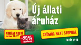 Új Fressnapf áruház nyílik Csömörön!