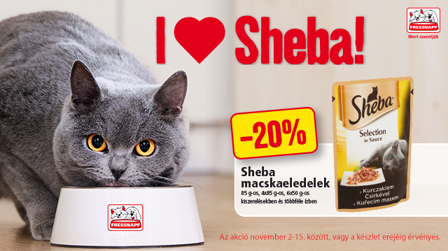 Mindig friss, mindig finom: Sheba cicaeledel akció