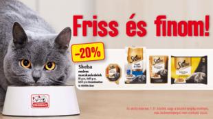 Friss és finom: Sheba macskaeledel akció