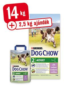 2,5 kg AJÁNDÉK - DOG CHOW száraz eledel 14kg+2,5kg
