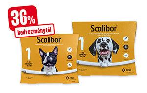 36% kedvezménytől - Scalibor nyakörv kullancs+lepkeszúnyog 48cm/65cm