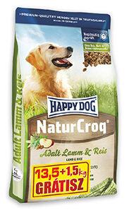 1,5 kg AJÁNDÉK - Happy Dog Natur Croq száraz eledel 13,5+1,5 kg (többféle) pl. Bárány&rizs