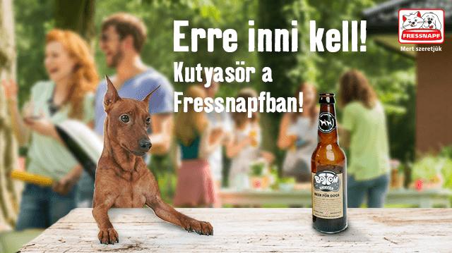 Kutyaharapás szőrével! Magyarországon először: kutyasör kapható a Fressnapf áruházakban!