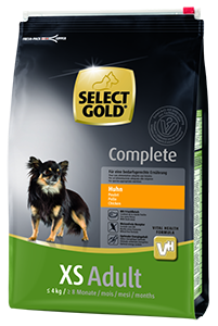 Select Gold Complete XS adult csirke 4kg