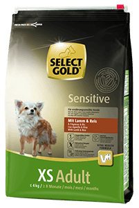 Select Gold Sensitive XS adult bárány&rizs 4kg