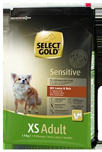 Select Gold Sensitive XS adult bárány&rizs 4kg