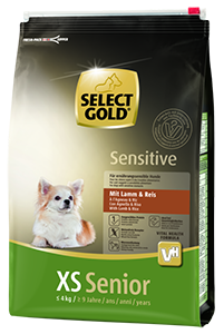 Select Gold Sensitive XS senior bárány&rizs 4kg