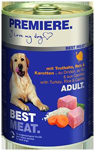 PREMIERE Best Meat konzerv adult pulyka&zöldség 400g