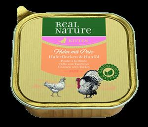 Real Nature Classic tálka kitten paté csirke 100g