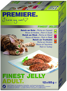 PREMIERE Finest Jelly tasak MP adult kacsa&marha 12x85g