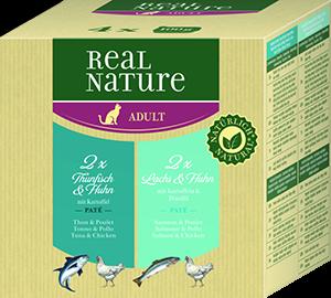 Real Nature Classic tálka MP adult hal&szárnyas 4x100g