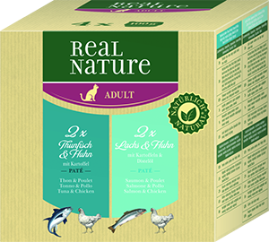 Real Nature Classic tálka MP adult hal&szárnyas 4x100g