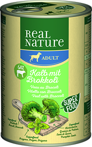 Real Nature Classic konzerv adult borjú&brokkoli 400g