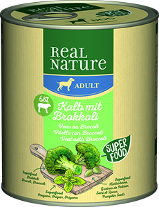 Real Nature Classic konzerv adult borjú&brokkoli 800g