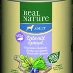 Real Nature Classic konzerv adult kacsa&spenót 800g