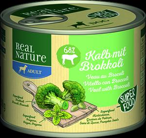 Real Nature Classic konzerv adult borjú&brokkoli 200g