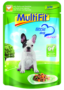 MultiFit Little Dog tasak zselé junior csirke 100g
