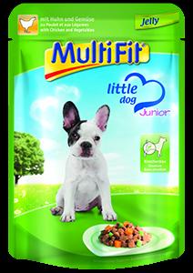 MultiFit Little Dog tasak zselé junior csirke 100g