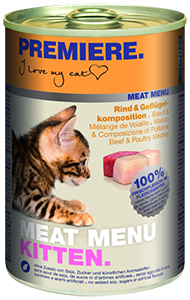 PREMIERE Meat Menü konzerv kitten marha&szárnyas 400g