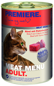 PREMIERE Meat Menü konzerv adult marha&pulyka 400g