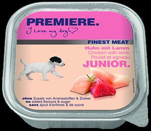 PREMIERE Finest Meat tálka junior csirke&bárány 150g