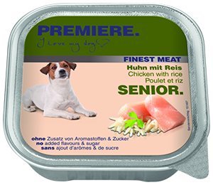 PREMIERE Finest Meat tálka senior csirke&rizs 150g